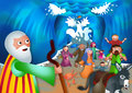 Moses and the Red Sea Royalty Free Stock Photo