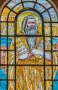 Moses with the ten commandments. The Law given to Moses at Sinai