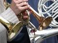 Mosiężne instrumenty Zdjęcia Royalty Free