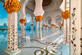Mosque, Abu Dhabi, United Arab Emirates Royalty Free Stock Photo