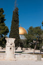 Mosque archaeology and pray on jerusalem temple mount Stock Photos