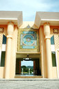 Mosque baitul izzah ornament at in tarakan indonesia Royalty Free Stock Photos
