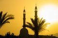Mosque in Cairo at sunset Royalty Free Stock Photography