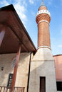 Mosque domes minaret and alems close up image Stock Photos