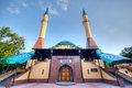 Mosque in donetsk ukraine beautiful sunset Royalty Free Stock Photo