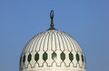 Mosque in gibraltar cupola of the king fahad Royalty Free Stock Image