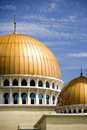Mosque with golden domes Royalty Free Stock Image