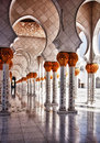 Mosque hallway Royalty Free Stock Images