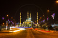Mosque The Heart of Chechnya and Grozny city at night Royalty Free Stock Photo