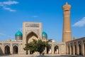 Mosque Kalon and Kalyan minaret, Historic centre of Bukhara, Uzbekistan Royalty Free Stock Photo