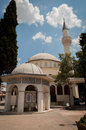 Mosque in kusadasi park and turkey Stock Photo