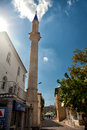 Mosque minaret in bozburun centrum centrumin summer day Royalty Free Stock Photos