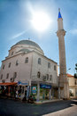 Mosque and minaret in bozburun centrum centrumin summer day Royalty Free Stock Images