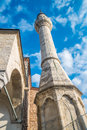 Mosque minaret istanbul typical architecture in Royalty Free Stock Photography