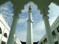 Mosque minaret malaysia view of in sunlight with blue sky sarawak Royalty Free Stock Images
