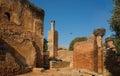 Mosque and minaret ruined of Chellah necropolis. Rabat. Morocco. Royalty Free Stock Photo