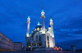 Mosque qol sharif in kazan view of the at night Royalty Free Stock Images