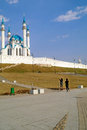 Mosque of qolsharif famous beautiful recovered is in city kazan Stock Image
