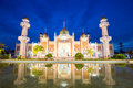 Mosque with reflection twilight view of central in pond pattani thailand Stock Photo