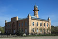 Mosque at road muslim a country russia north caucasus Royalty Free Stock Images
