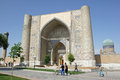 Mosque samarkand uzbekistan may bibi xanom on may in central asia the is one of the tourist Stock Photo