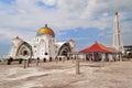 Mosque Selat Melaka Royalty Free Stock Photo