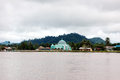 Mosque a small on the banks of the river malinau indonesia Royalty Free Stock Photos