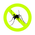 Mosquito alert and repellent sign Royalty Free Stock Images