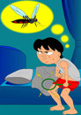 The mosquito attack Royalty Free Stock Image