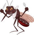 Mosquito cartoon ready for eat illustration of Stock Photography