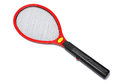 Mosquito killing racket a red over white background Stock Photography