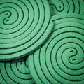 Mosquito repellent coils close up Stock Images