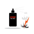 Mosquito spray icon. Shadow reflection design. Vector illustration. Royalty Free Stock Photo