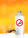 Mosquito spray nice illustration of a Stock Images
