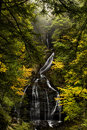 Moss Glen Falls - Autumn / Fall Colors - Waterfall - Vermont Royalty Free Stock Photo