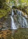 Moss Glen Falls Leaf Swirl Royalty Free Stock Photo