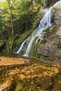Moss Glen Falls Leaf Vortex Royalty Free Stock Photo