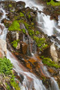 Mossy Rocks Waterfall Royalty Free Stock Photography