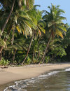 The most beautiful beach in Dominica, Batibou beac Royalty Free Stock Image