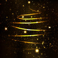 Most beautiful christmas trees abstract golden tree on black background Royalty Free Stock Photography