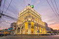 The most beautiful Kasikorn Bank building with Sino-Portuguese architecture style design in Thailand, start operate on 12 Jan 2015 Royalty Free Stock Photo