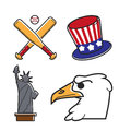 Most common symbols of United States of America Royalty Free Stock Photo
