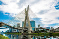 The most famous bridge in the city of Sao Paulo, Brazil Royalty Free Stock Photo