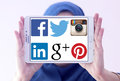 Most famous social media networks websites logos