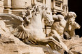 Most famous Trevi Fountain in Rome Stock Images