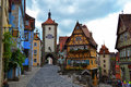 Most Famous View of Rothenburg ob der Tauber Royalty Free Stock Photo