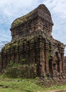 Most iconic structure of my son cham towers vietnam Stock Photos