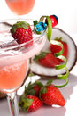 Most popular cocktails series - Strawberry Colada Royalty Free Stock Image