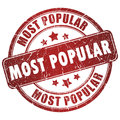 Most popular stamp Royalty Free Stock Image