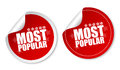 Most popular stickers Royalty Free Stock Photo